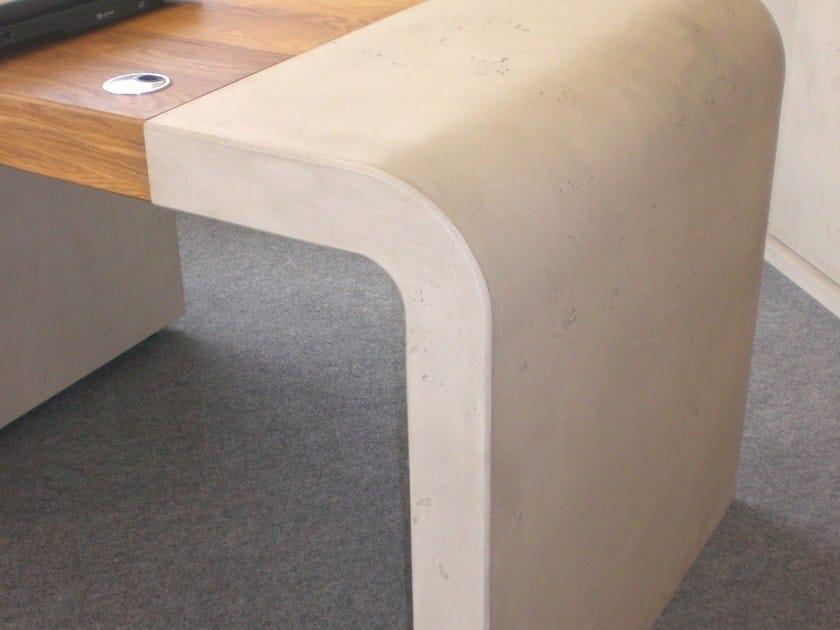 Ultra thin HPL wall tiles with concrete effect IMI-FLEX® by LEGNOPAN