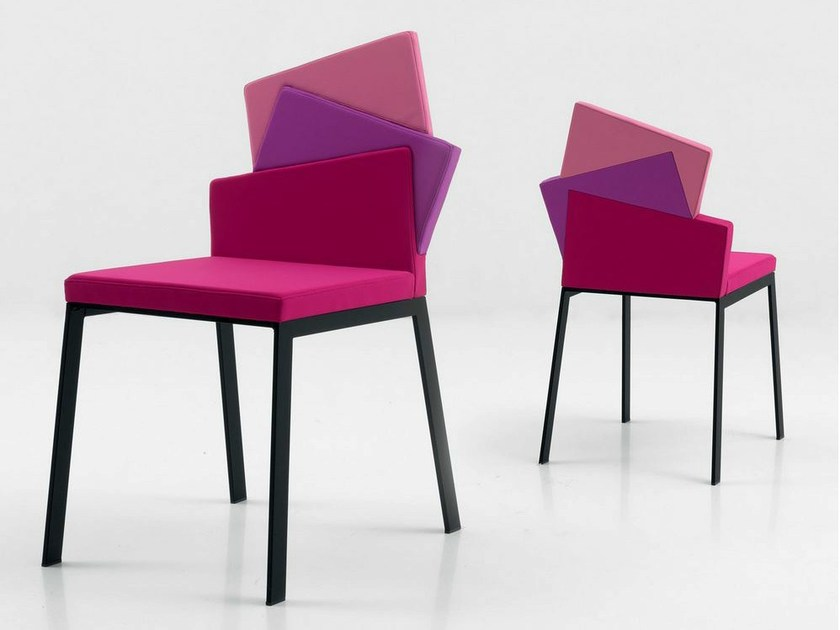 Upholstered fabric chair KARMA by Italy Dream Design
