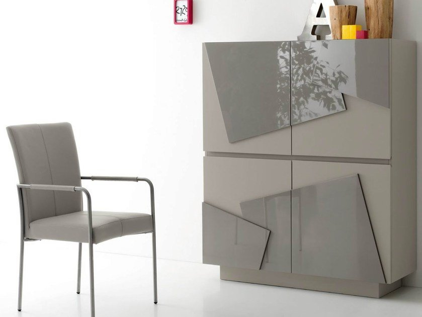 Lacquered highboard with doors PRINT by Italy Dream Design