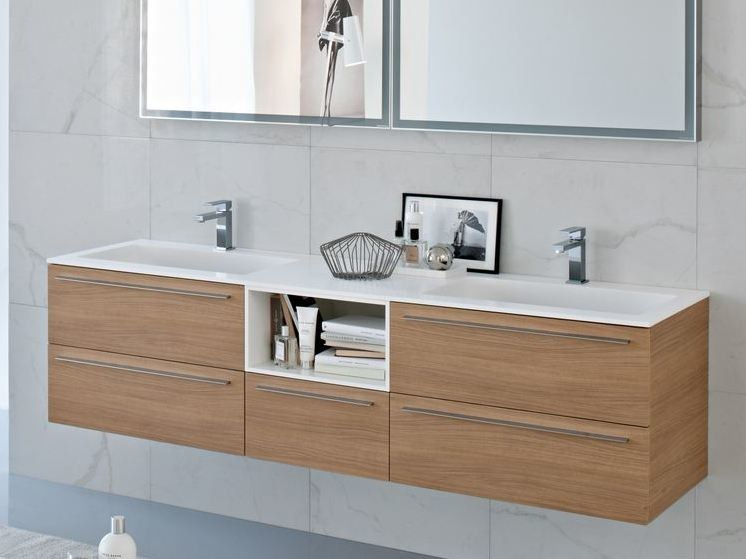 Double Aquatek vanity unit COMP MFE01 by Idea