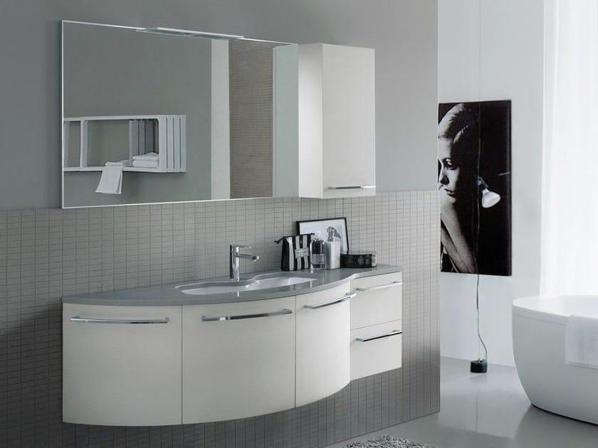 Lacquered Mineralmarmo® vanity unit COMP MFE08 by Idea