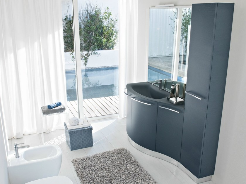 Vanity unit with doors with cabinets COMP MFE18 by Idea