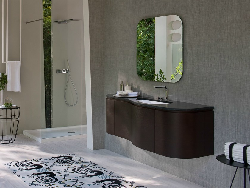 Lacquered wall-mounted vanity unit COMP MSP12 by Idea