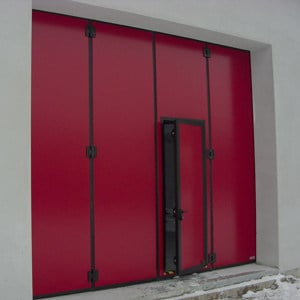 Industrial folding door Industrial folding door by A.T.I. Dainese