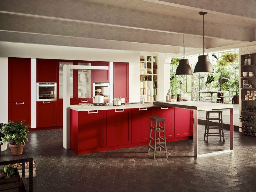 Fitted kitchen with island LUX CLASSIC | Kitchen with island by Snaidero