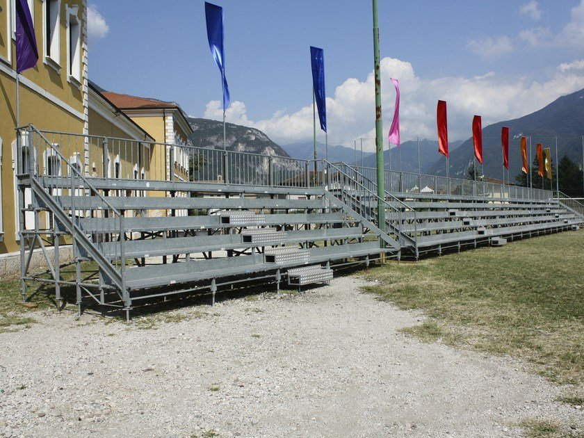 Modular system for steel platform and stand 5 ROW COMPATTA TRIBUNE by SELVOLINA