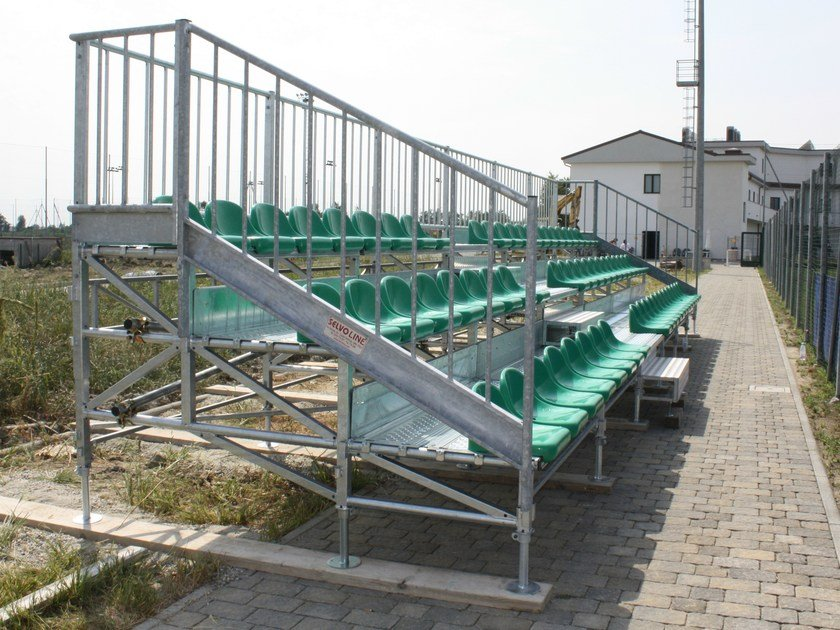 Modular system for steel platform and stand 3 ROW MARATHON TRIBUNE by SELVOLINA