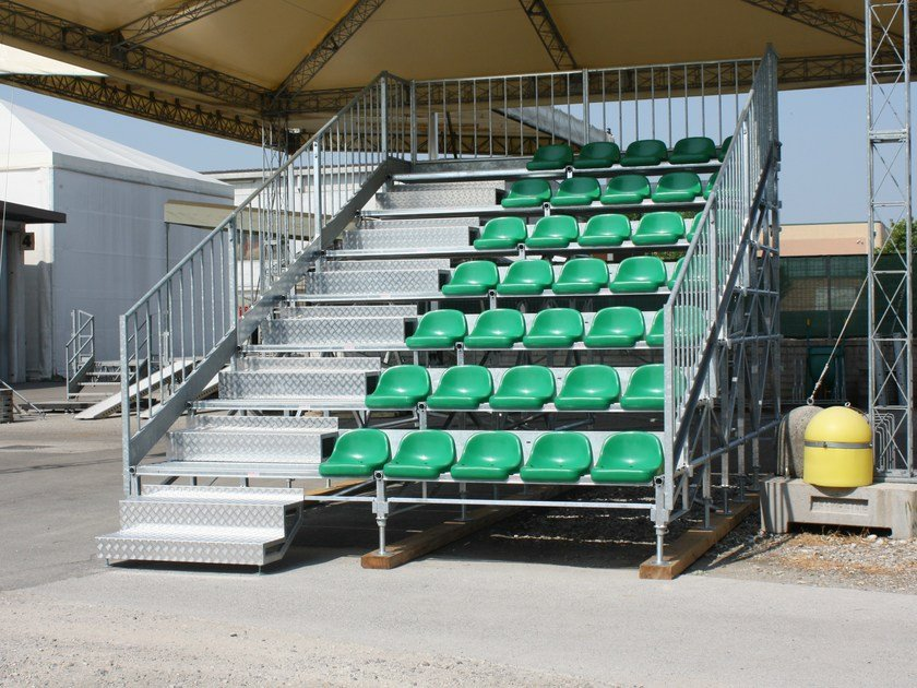 Modular system for steel platform and stand 7 ROW MARATHON TRIBUNE by SELVOLINA