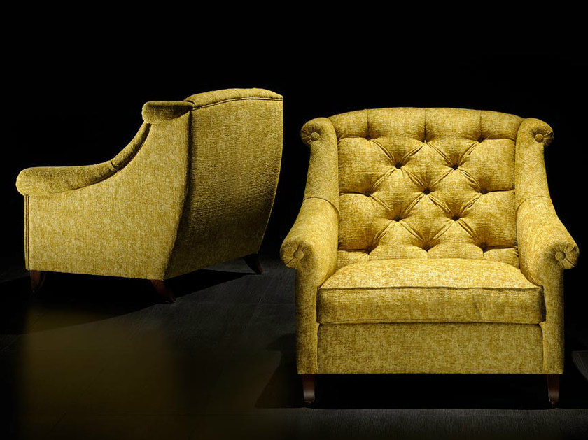 Upholstered armchair with armrests 3038 | Armchair by Transition by Casali