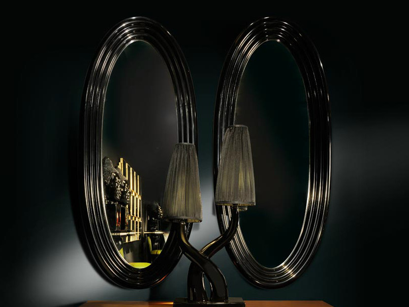 Wall-mounted framed oval mirror AMBIANCE 149 | Mirror by Transition by Casali