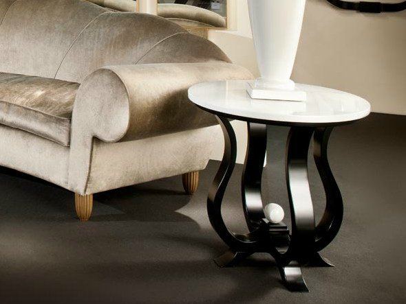 Low round coffee table AMBIANCE 153 | Coffee table by Transition by Casali