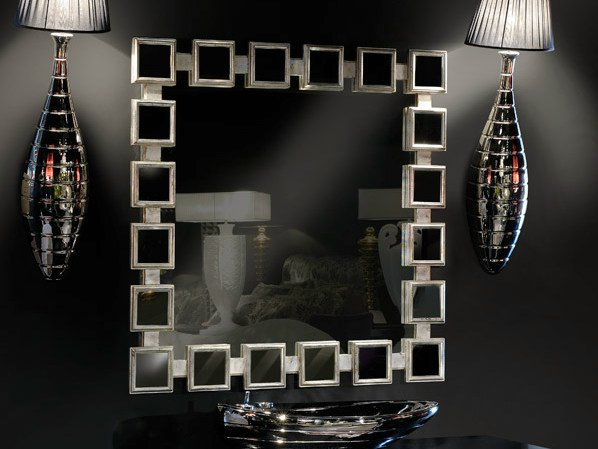 Wall-mounted framed square mirror AMBIANCE 142 | Mirror by Transition by Casali