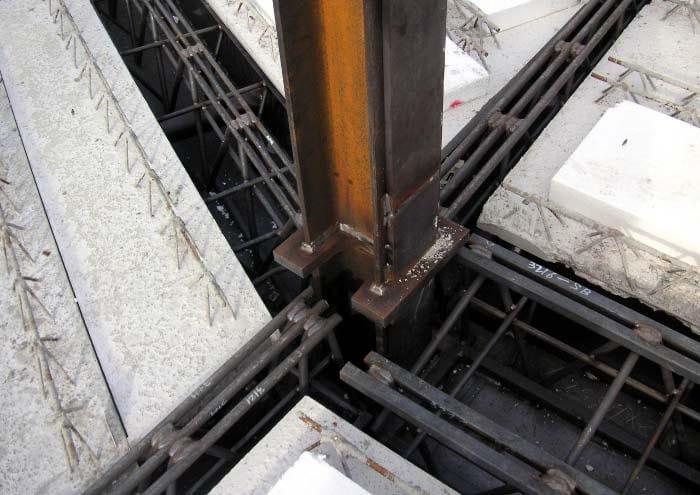 Trave REP® Nor: nodo con angolatura irregolare
