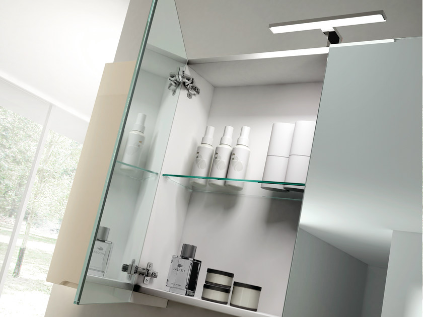 Smyle comp 01 mobile bagno con specchio by idea - Pensile bagno specchio ...