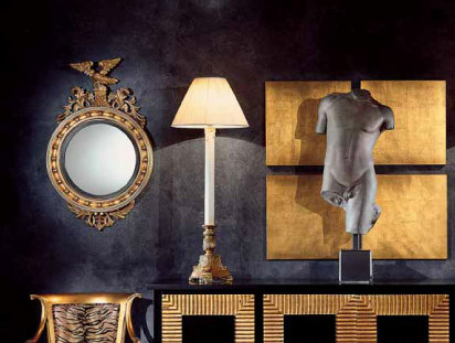Wall-mounted framed round mirror AMBIANCE 115 | Mirror by Transition by Casali
