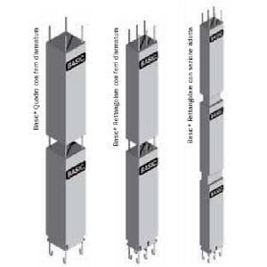Mixed steel-concrete beam and column Column BASIC NPS® by Tecnostrutture