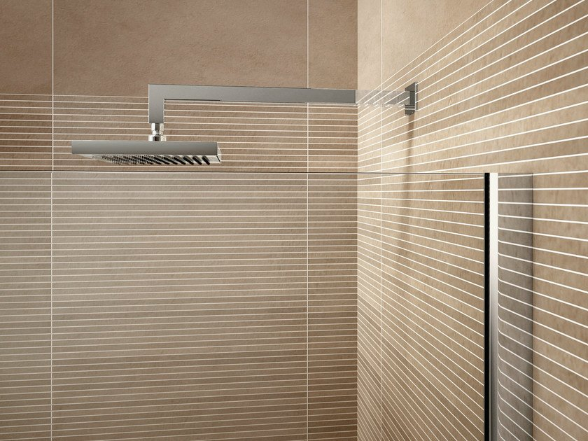 Wall-mounted chrome-plated overhead shower CLIP | Chrome-plated overhead shower by Idea