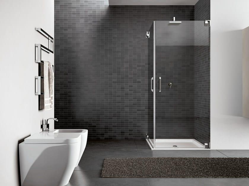 Corner steel shower cabin HAND09 by Idea
