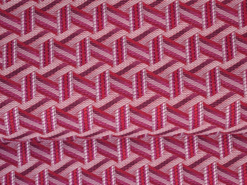 Solid-color jacquard fabric TRIBU by LELIEVRE