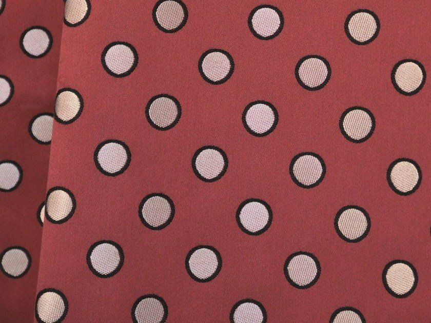 Dotted jacquard cotton fabric COQUIN by LELIEVRE