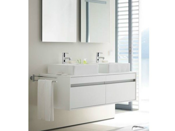 Floor-standing wall-mounted vanity unit with drawers KETHO | Floor-standing vanity unit by Duravit
