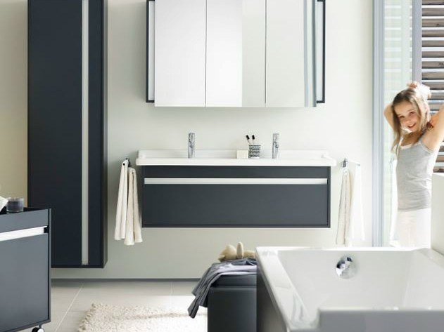 Double wall-mounted vanity unit KETHO | Double vanity unit by Duravit