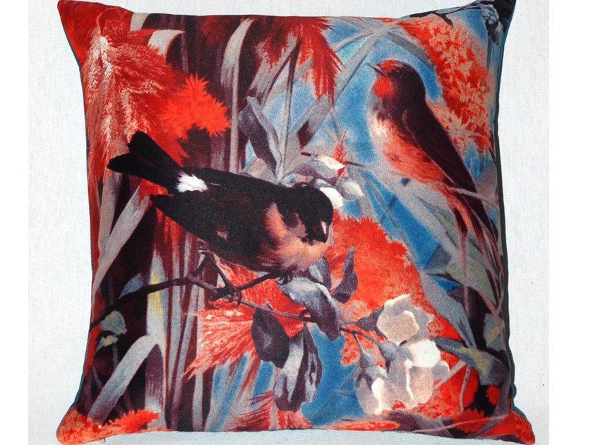 Square polyester cushion FIDELES by LELIEVRE