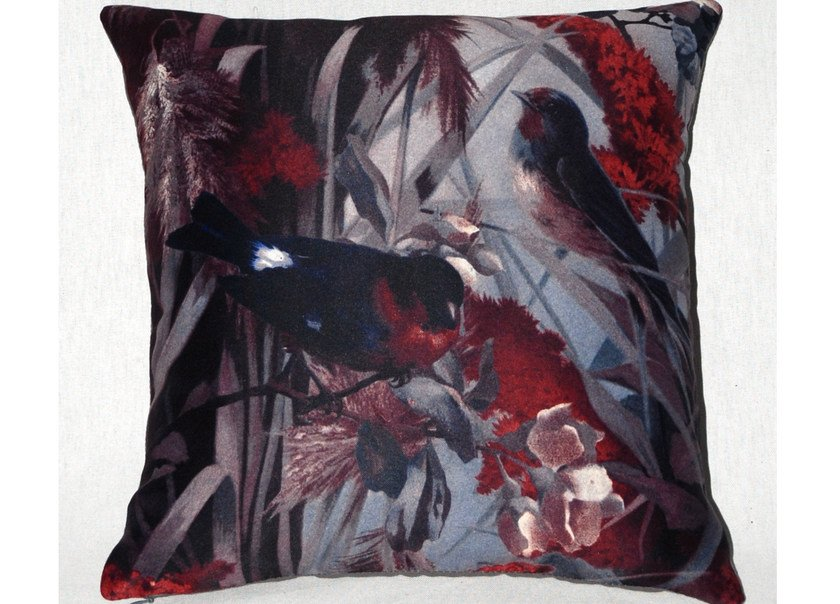 Square polyester cushion FIDELES HIVER by LELIEVRE