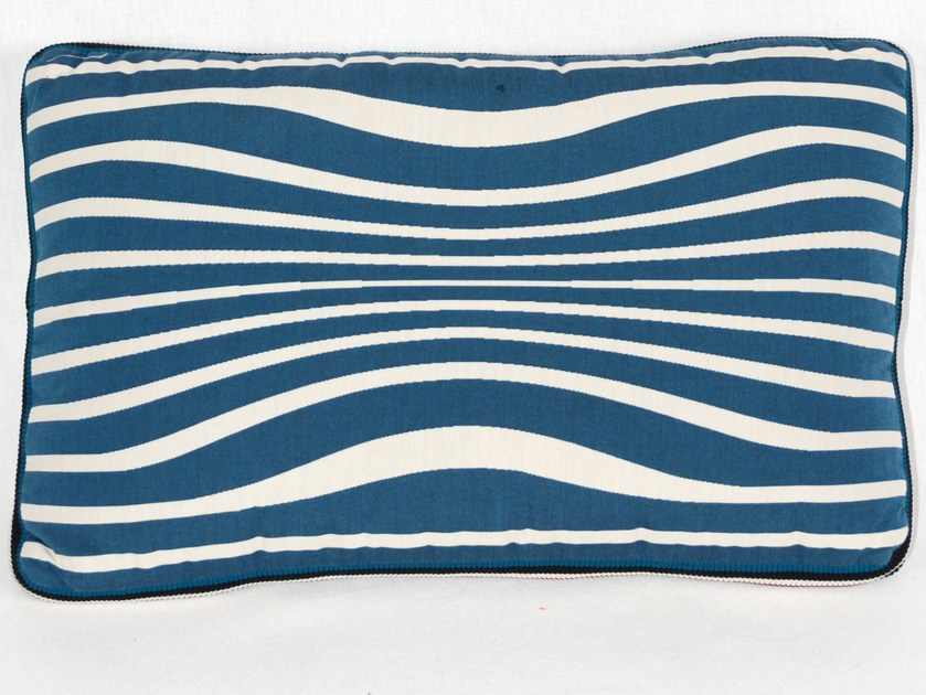 Rectangular cotton cushion REVERSIBLE by LELIEVRE