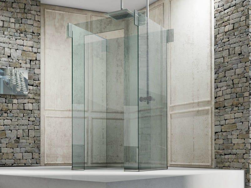 duschwand glas freistehend
