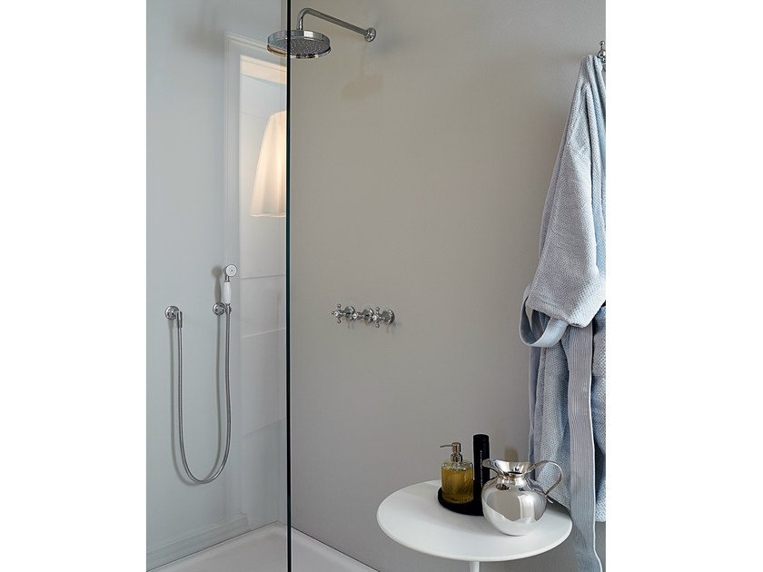 Shower tap with hand shower with overhead shower AGORÀ | Shower tap with hand shower by ZUCCHETTI