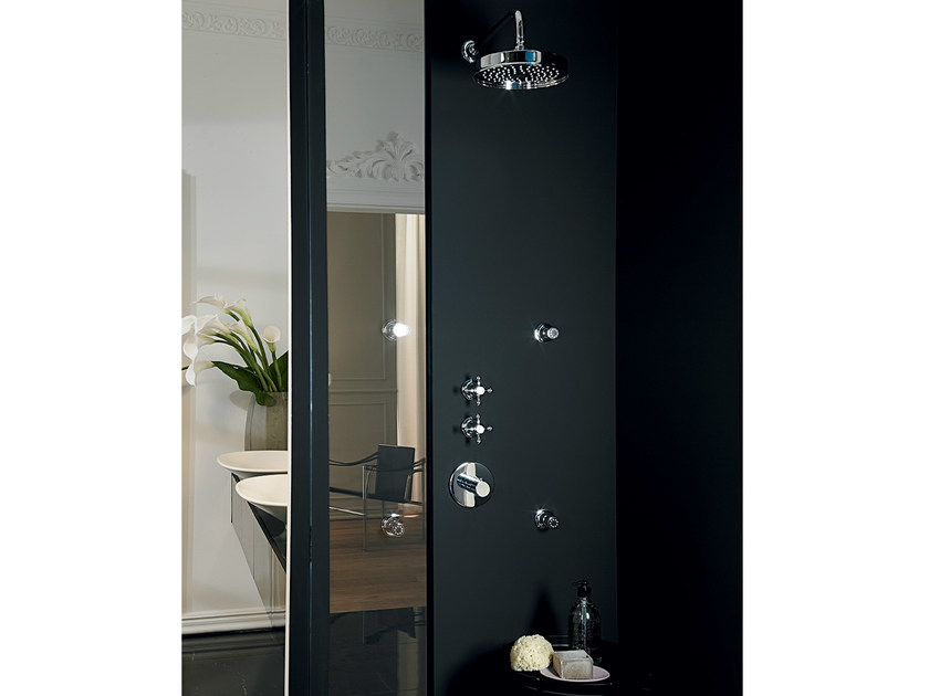 Shower tap with overhead shower AGORÀ | Shower tap by ZUCCHETTI