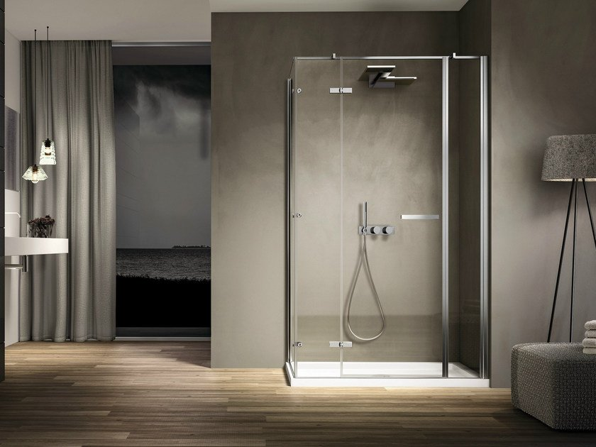 Corner rectangular glass shower cabin SMART 05 by Idea