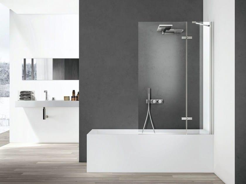 Glass bathtub wall panel SMART | Bathtub wall panel by Idea