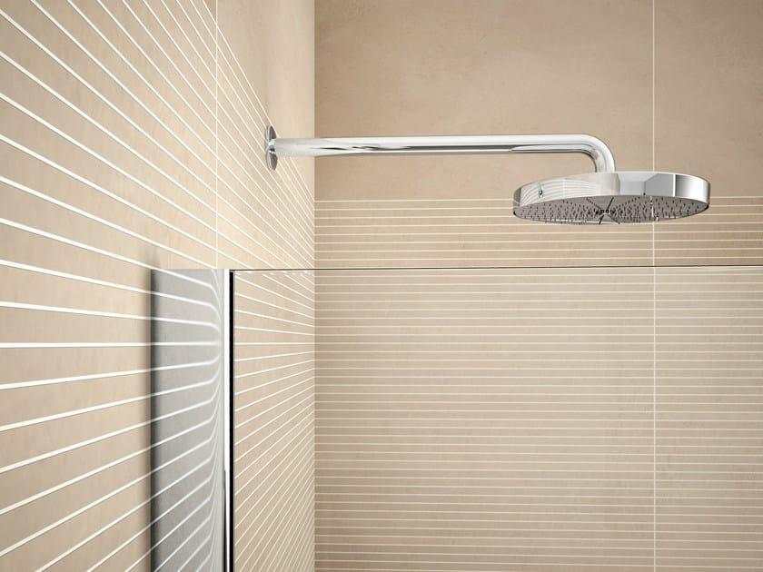 Wall-mounted steel overhead shower VELA | Overhead shower by Idea