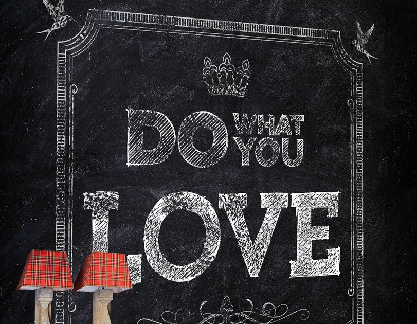 Wall effect writing wallpaper DO WHAT YOU LOVE by Wall&decò