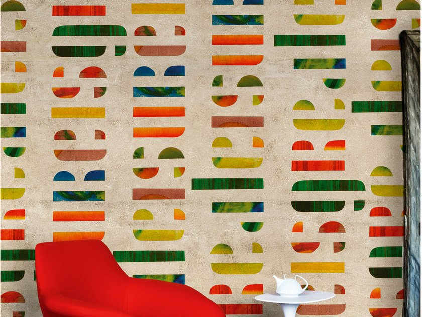 Writing wallpaper LEISURE IS GREAT by Wall&decò