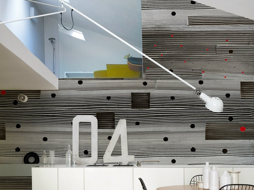 Wood effect wallpaper SCRUB by Wall&decò