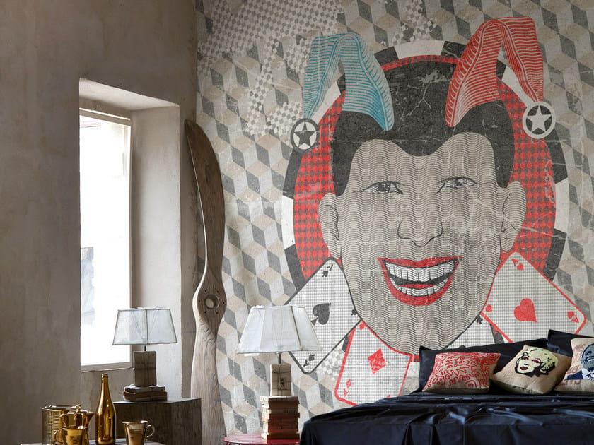Geometric wallpaper THE JOKER by Wall&decò