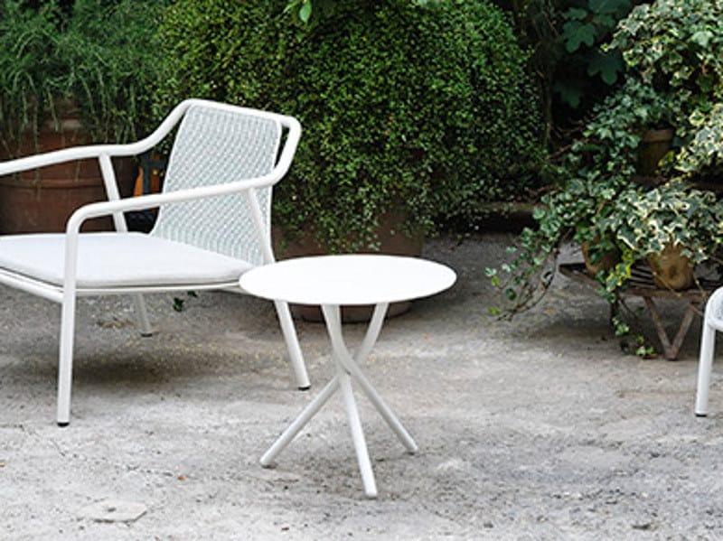 Tavolino da giardino basso rotondo trio by tacchini