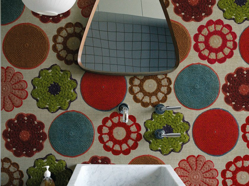 Motif wallpaper AUNT MARY by Wall&decò