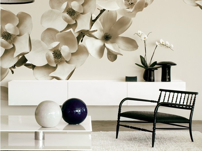 With floral pattern AIRES by Wall&decò