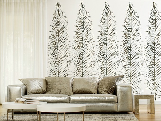 With floral pattern ARABESQUES by Wall&decò