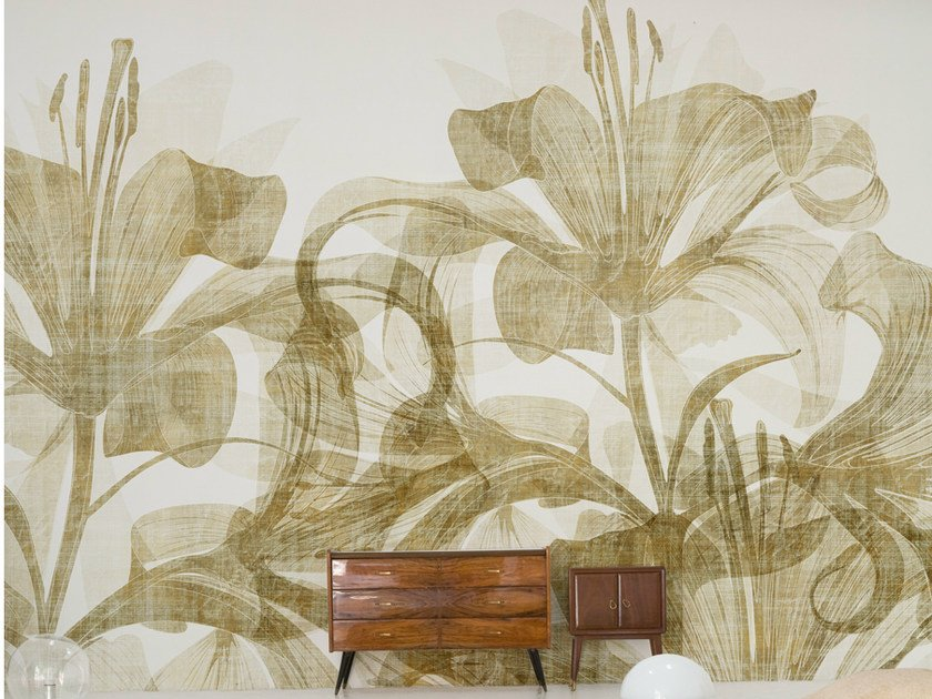 Wallpaper with floral pattern SMELL LIKE by Wall&decò