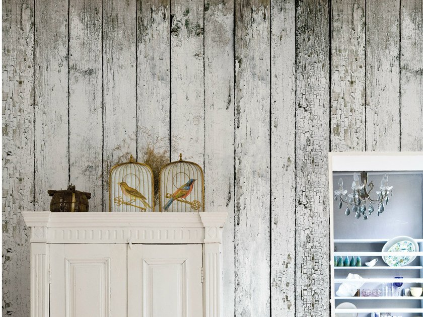 Wood effect wallpaper SVALBARD by Wall&decò