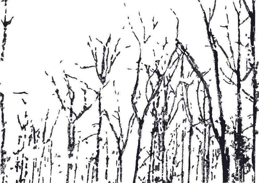 Wallpaper strip BLACK FOREST by Wall&decò