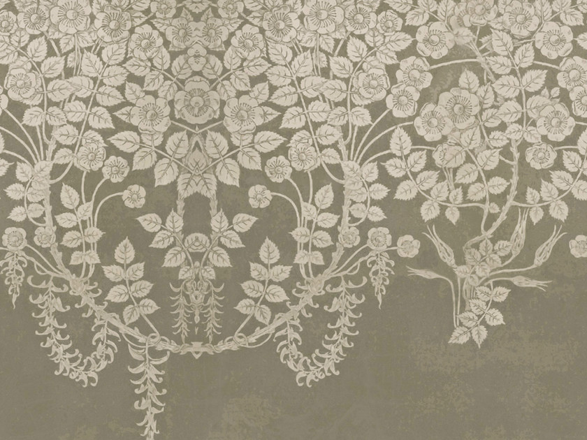 Wallpaper with floral pattern LOOST IN THE FLOOD by Wall&decò