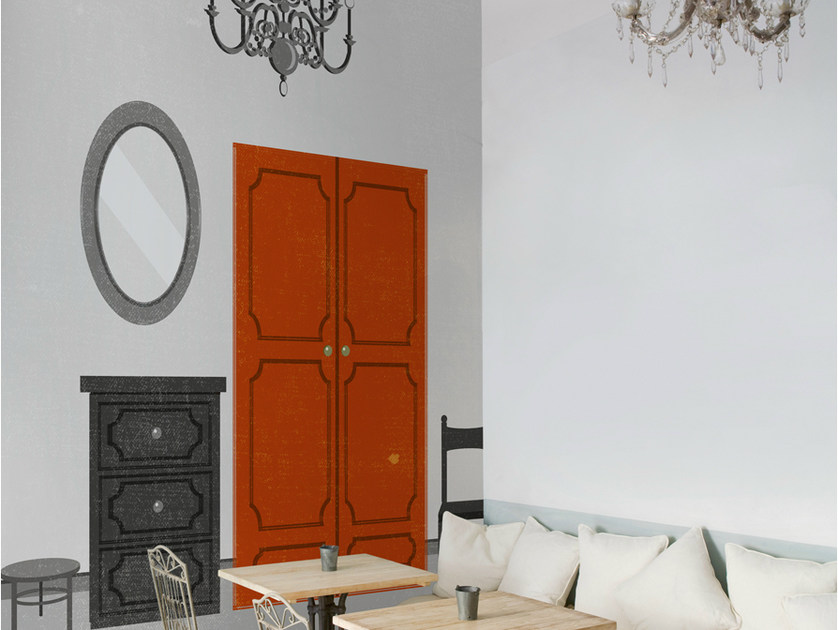 Trompe l'oeil wallpaper ACCESSORIZED by Wall&decò