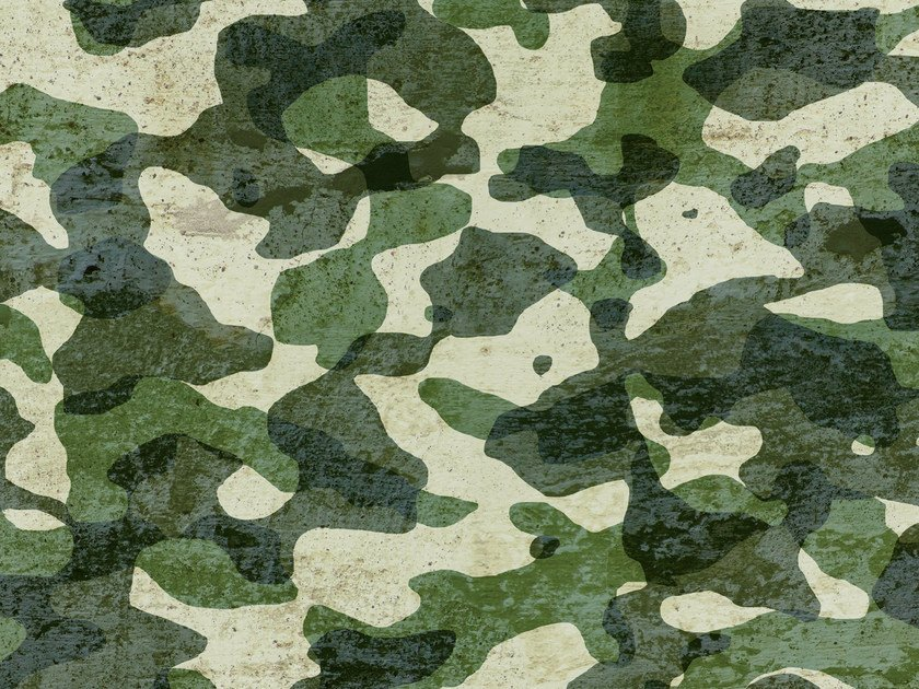 Motif outdoor wallpaper CAMOO by Wall&decò