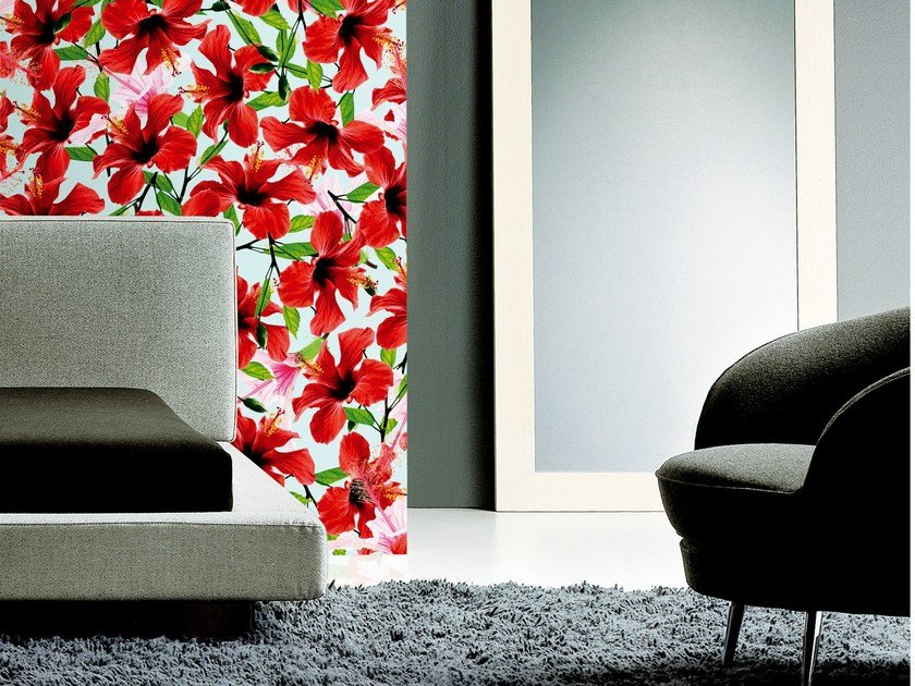 With floral pattern TROPICS by Wall&decò